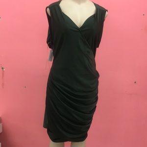 New plus size olive color dress